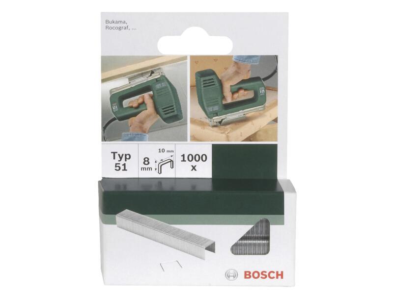 Bosch agrafes type 51 8mm 1000 pièces