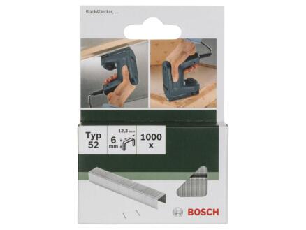 Bosch agrafes type 52 6mm 1000 pièces