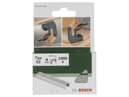 Bosch agrafes type 52 8mm 1000 pièces