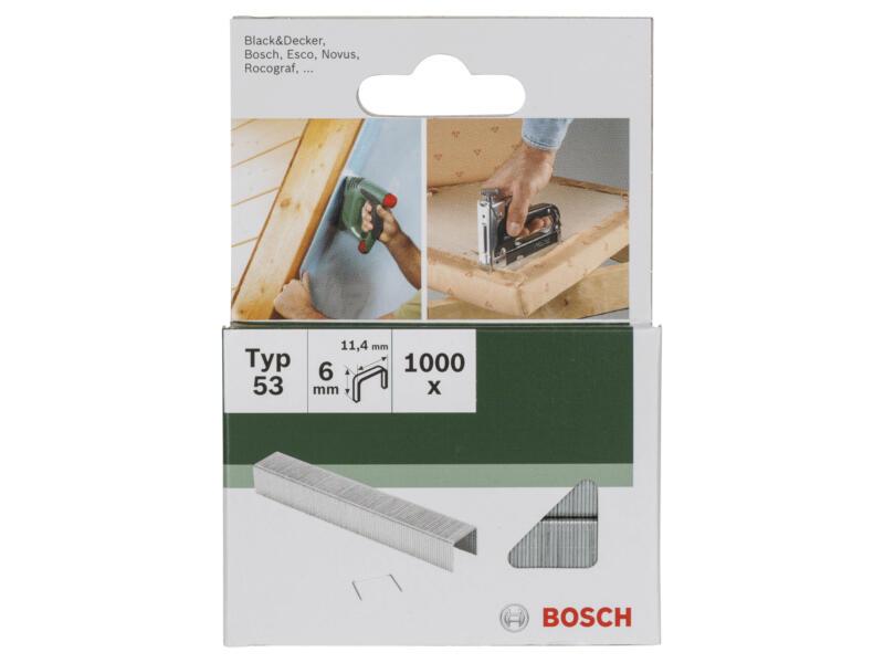 Bosch agrafes type 53 6mm 1000 pièces