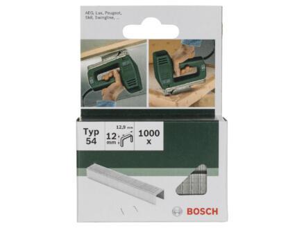 Bosch agrafes type 54 12mm 1000 pièces