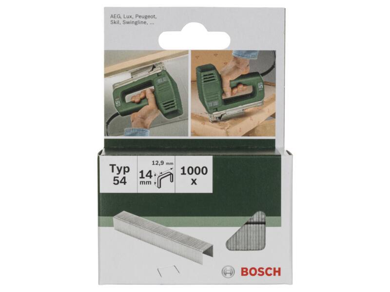 Bosch agrafes type 54 14mm 1000 pièces