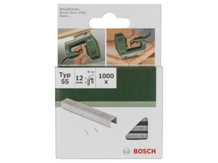 Bosch agrafes type 55 12mm 1000 pièces