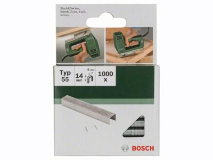 Bosch agrafes type 55 14mm 1000 pièces