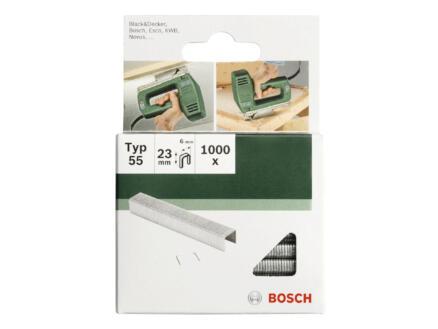 Bosch agrafes type 55 23mm 1000 pièces