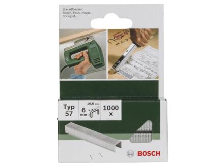 Bosch agrafes type 57 6mm 1000 pièces