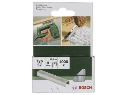 Bosch agrafes type 57 8mm 1000 pièces