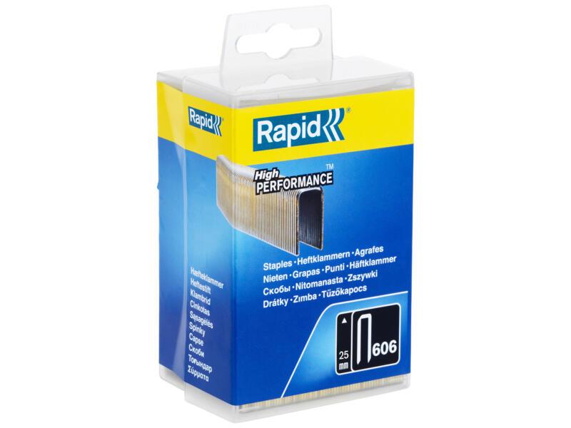 Rapid agrafes type 606 25mm 3600 pièces