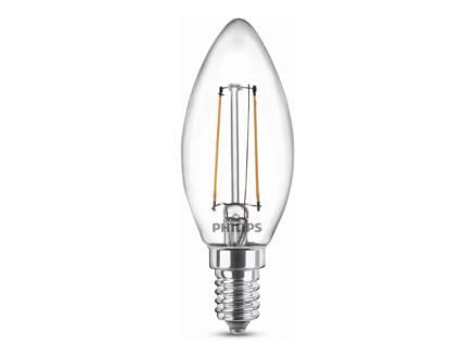 Philips ampoule LED flamme filament E14 2W