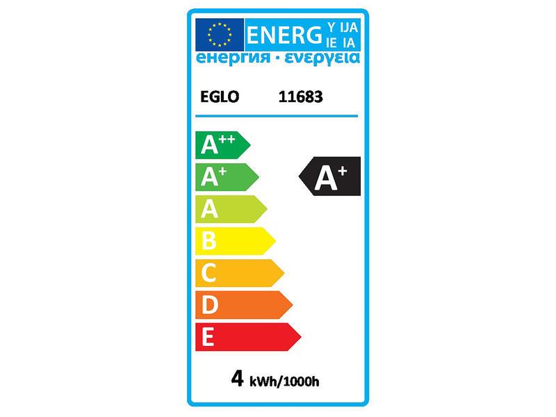 Eglo ampoule LED globe filament verre ambré E27 4W dimmable