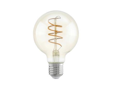 Eglo ampoule LED globe filament verre ambré E27 4W spirale