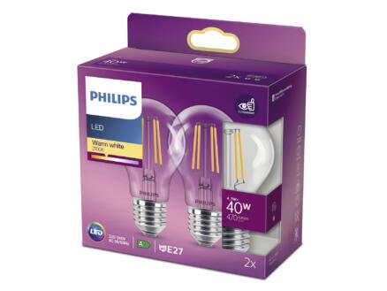 Philips ampoule LED poire E27 4,3W 2 pièces