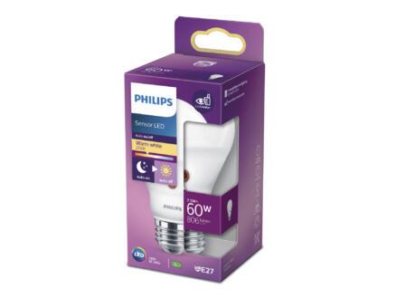 Philips ampoule LED poire E27 7W avec capteur de lumière