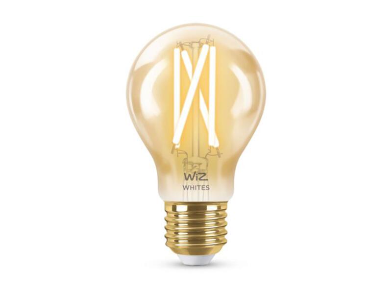 Wiz ampoule LED poire filament verre ambré E27 8W dimmable