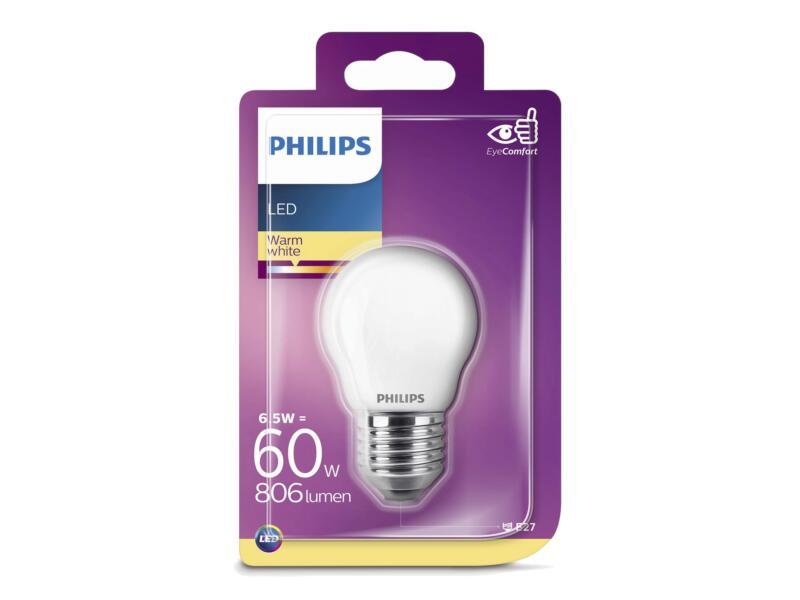 Philips ampoule LED sphérique E27 7W blanc chaud