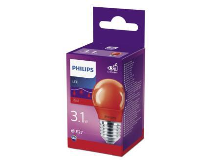 Philips ampoule LED sphérique rouge E28 3,1W