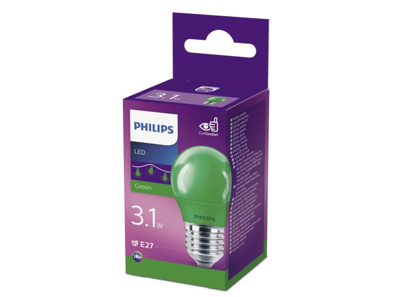 Philips ampoule LED sphérique vert E27 3,1W