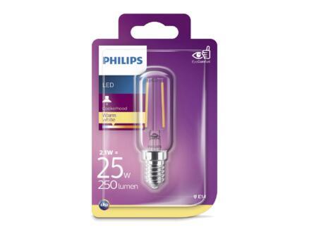 Philips ampoule LED tubulaire filament E14 2,1W blanc chaud