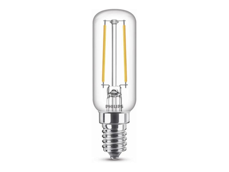Philips ampoule LED tubulaire filament E14 2,1W