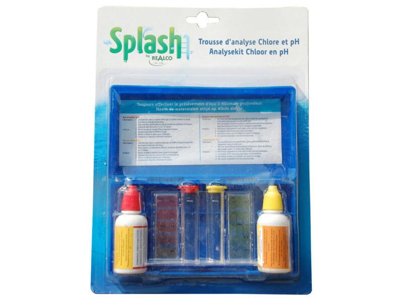 Splash analysekit chloor en pH
