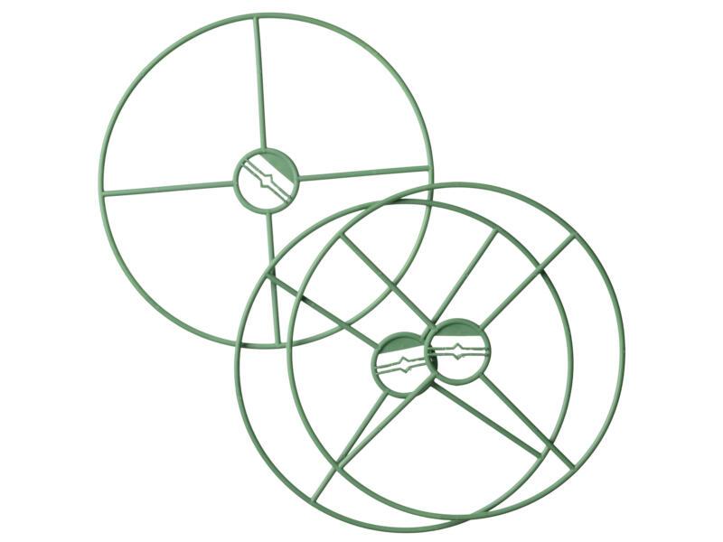 Nature anneau de tuteurage plantes 30cm 3 pièces