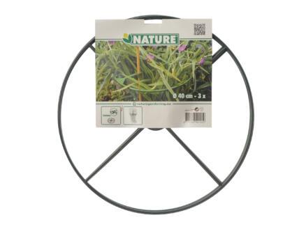 Nature anneau de tuteurage plantes 40cm 3 pièces