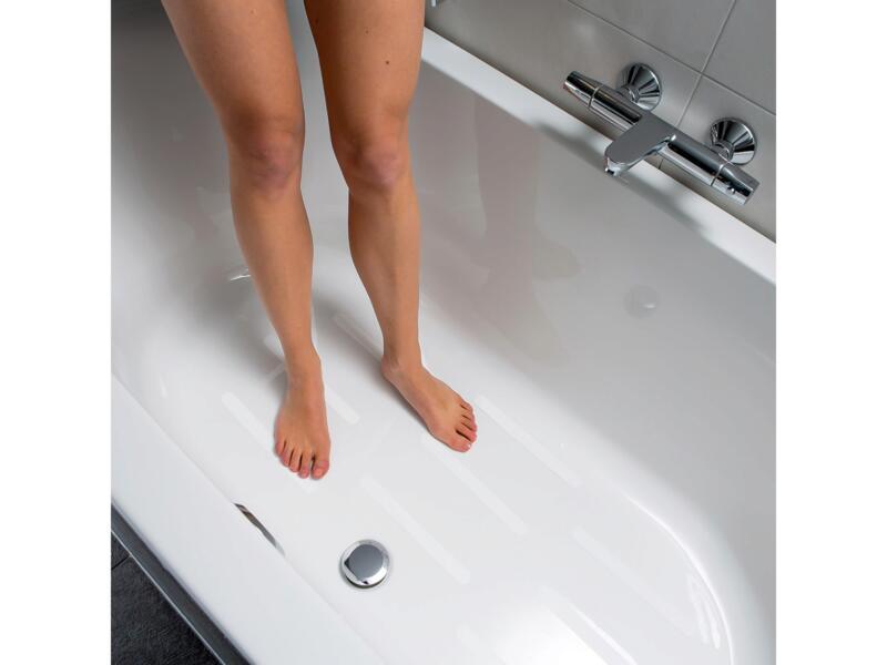 Secucare antislip sticker langwerpig 245x25 mm wit 12 stuks
