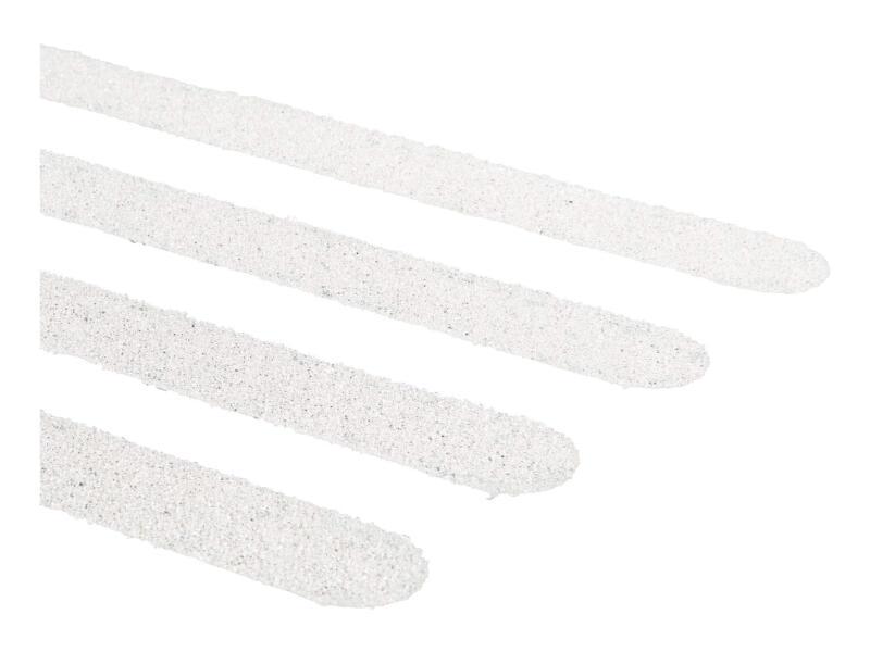 Secucare antislip sticker langwerpig 600x19 mm wit 15 stuks