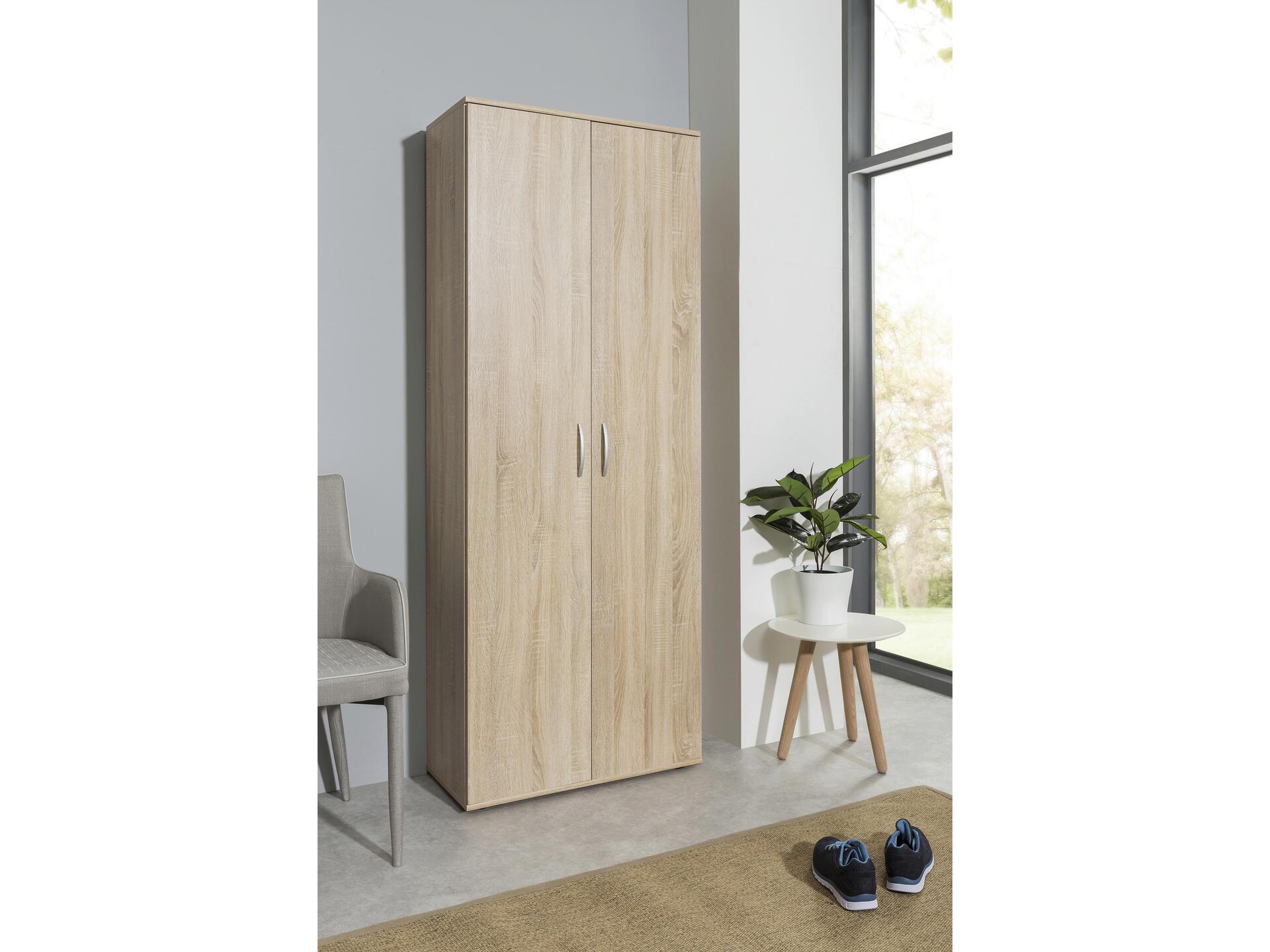Practo Home armoire de rangement 70x187x34 cm chêne sonoma | Hubo