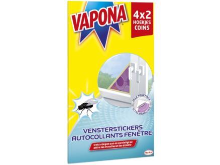 Vapona autocollants fenêtre cornières anti-mouches 4x2 pièces
