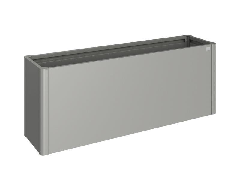 Biohort bac potager 53x201 cm gris quartz métallique