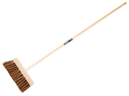 Polet balai de rue 31cm piassava + manche en bois 150cm