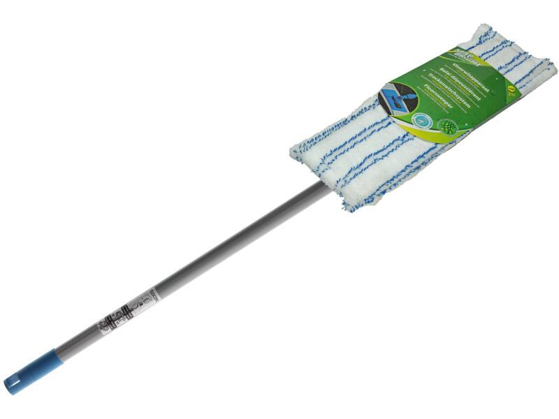 balai dépoussiérant + manche téléscopique + housse en microfibres