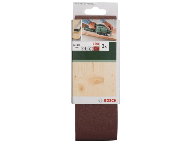 Bosch bande abrasive G100 400x60 mm 3 pièces