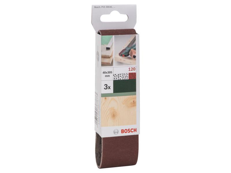 Bosch bande abrasive G120 305x40 mm 3 pièces