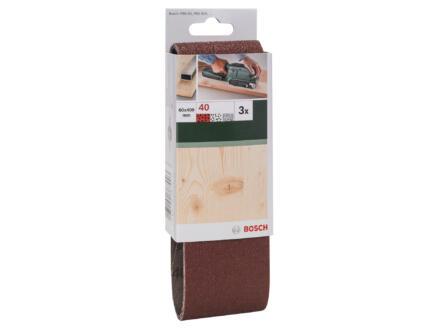 Bosch bande abrasive G40 400x60 mm 3 pièces