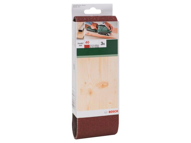 Bosch bande abrasive G40 457x75 mm 3 pièces