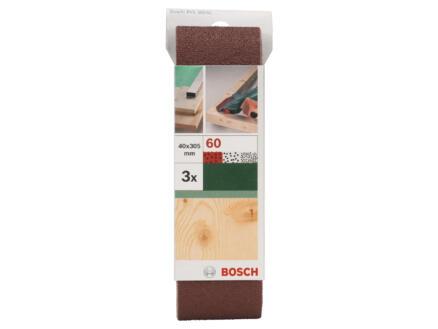 Bosch bande abrasive G60 305x40 mm 3 pièces