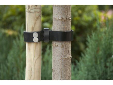 Nature bande de tuteurage arbre 60x3,8 cm caoutchouc 2 pièces