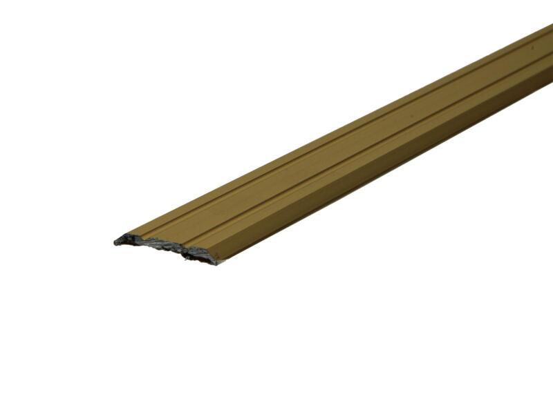 Arcansas barre de seuil autocollant 90cm 25mm aluminium mat anodisé or