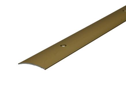 Arcansas barre de seuil vis visible 90cm 30mm aluminium or