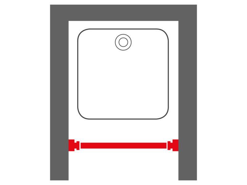Sealskin barre rideau de douche extensible 70-115 cm chrome