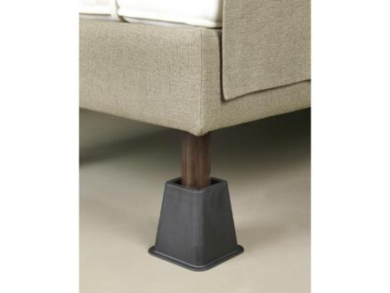 Secucare bed- en meubelverhoger 13cm zwart 4 stuks