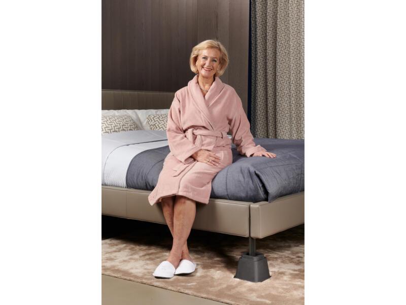 Secucare bed- en meubelverhoger hoogte verstelbaar 8-13-21 cm zwart 4 stuks