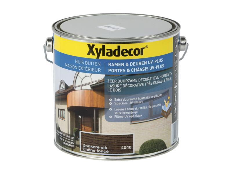 Xyladecor beits ramen & deuren UV-plus 2,5l donkere eik