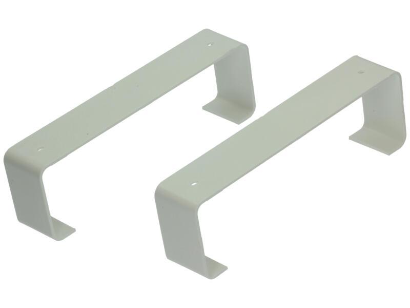 Renson bevestigingsbeugels type 7023 204x60 mm wit