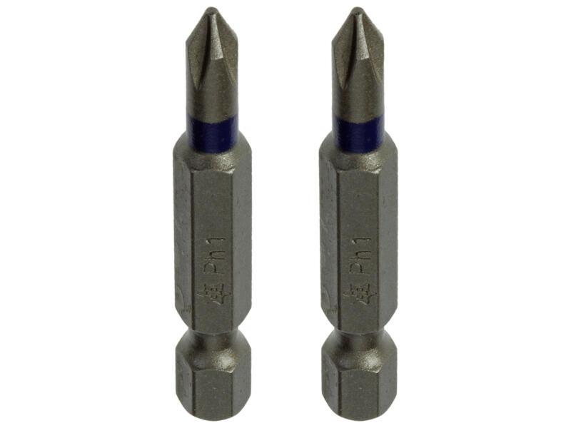 Mack bit PH1 50mm 2 stuks