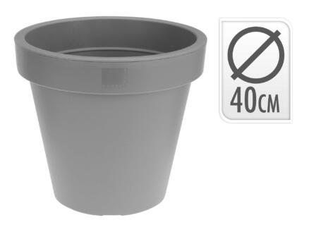 bloempot 40cm antraciet/wit/lichtgrijs