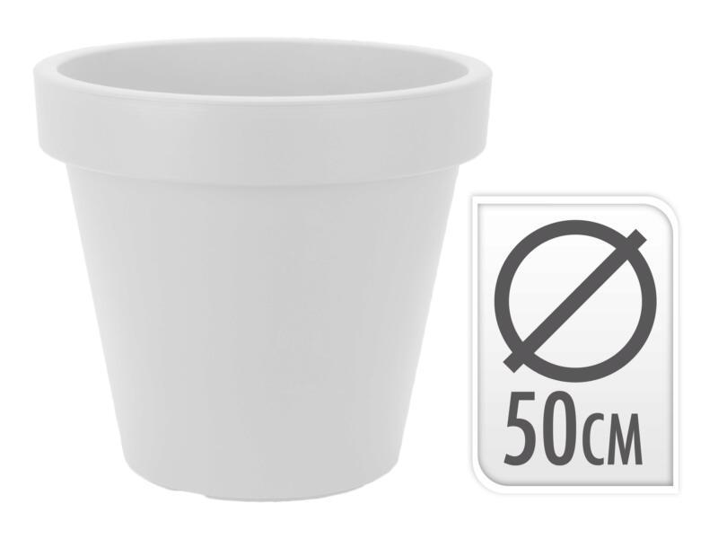 bloempot 50cm antraciet/wit/lichtgrijs