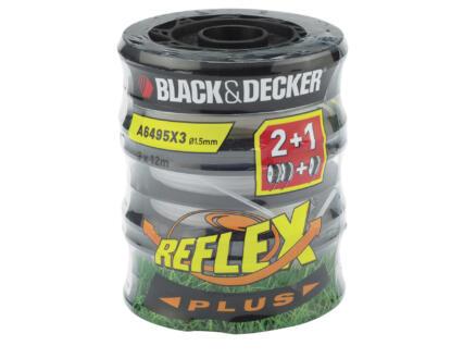 Black+Decker bobine double fil pour coupe-bordures 1,5mm 6m 3 pièces